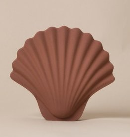 Les Objetos Decorativos Seashell Vase Terracotta