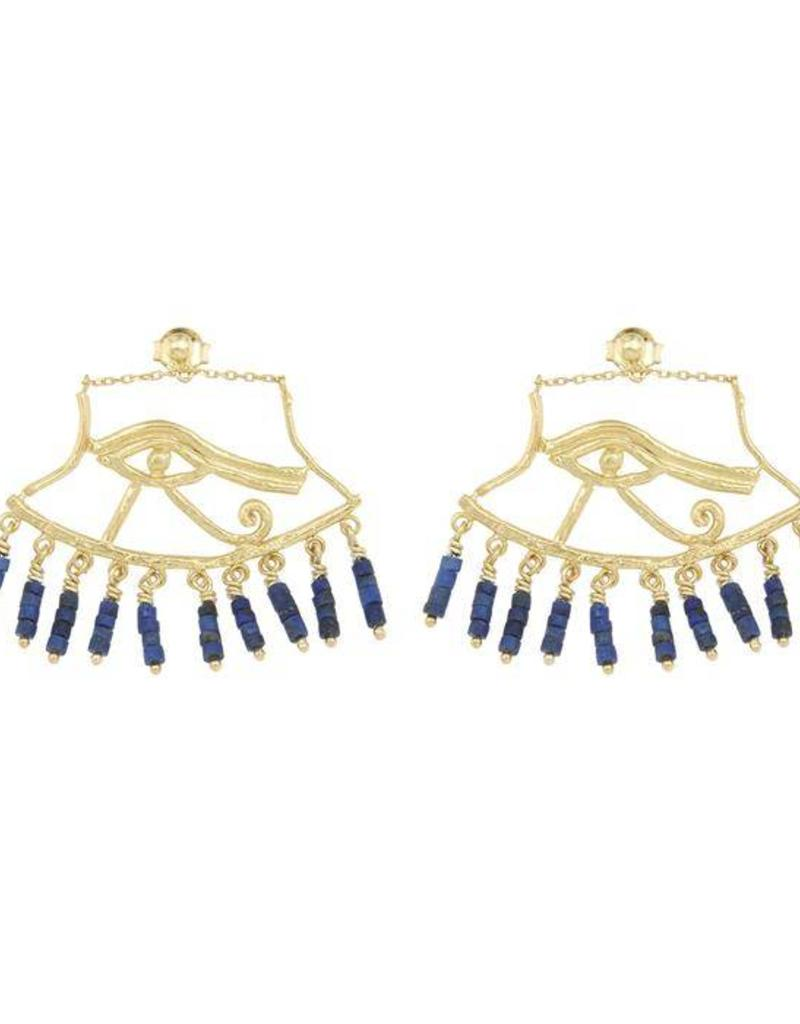Cleopatra's Bling Cleopatra's bling Wedjat earrings Gold