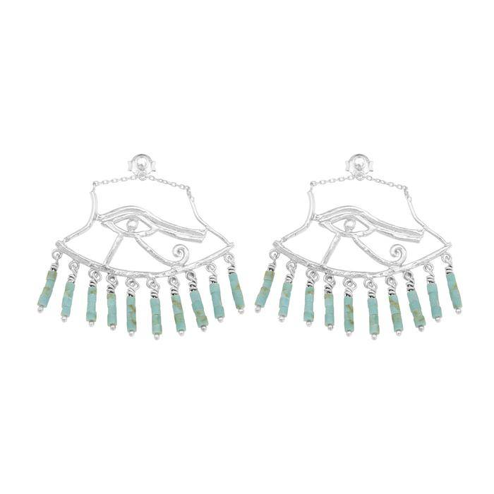 Cleopatra's Bling Cleopatra's Bling Wedjat Earring silver