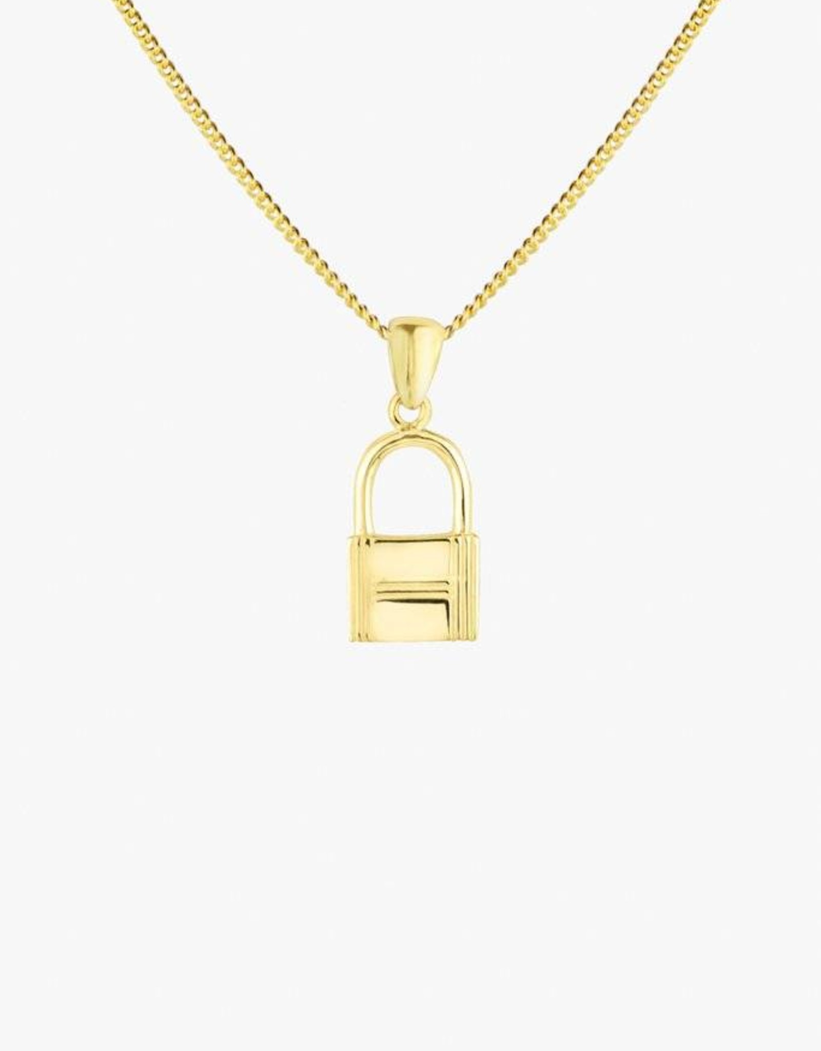 Wildthings Collectables Lock necklace gold