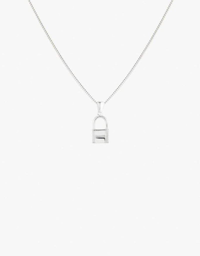 Wildthings Collectables Lock Necklace Silver
