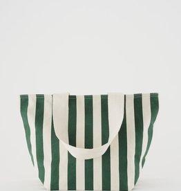 Baggu Canvas Zip Tote Stripe Palm