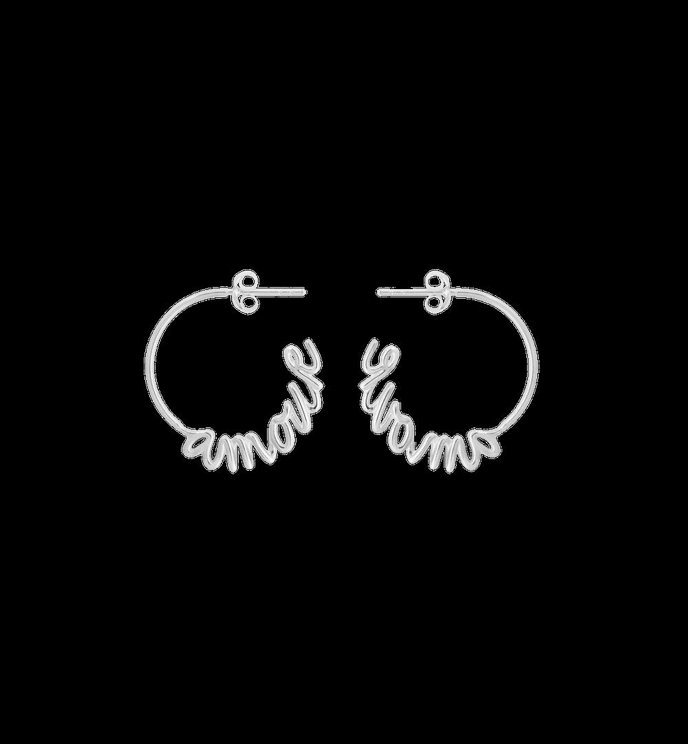 Anna + Nina Earring Amour Hoop Silver