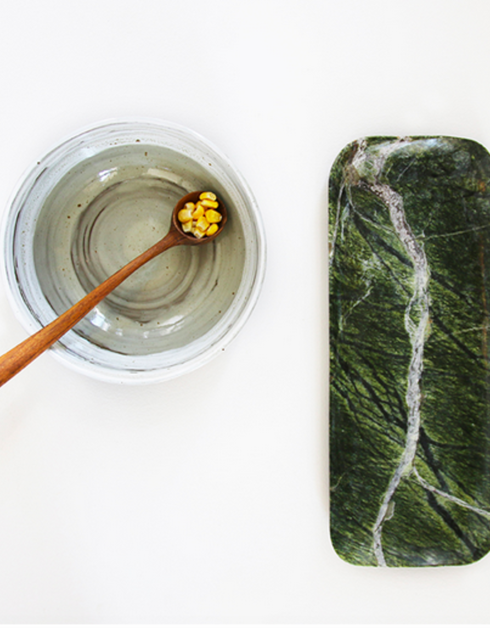 HK Living Green marble tray