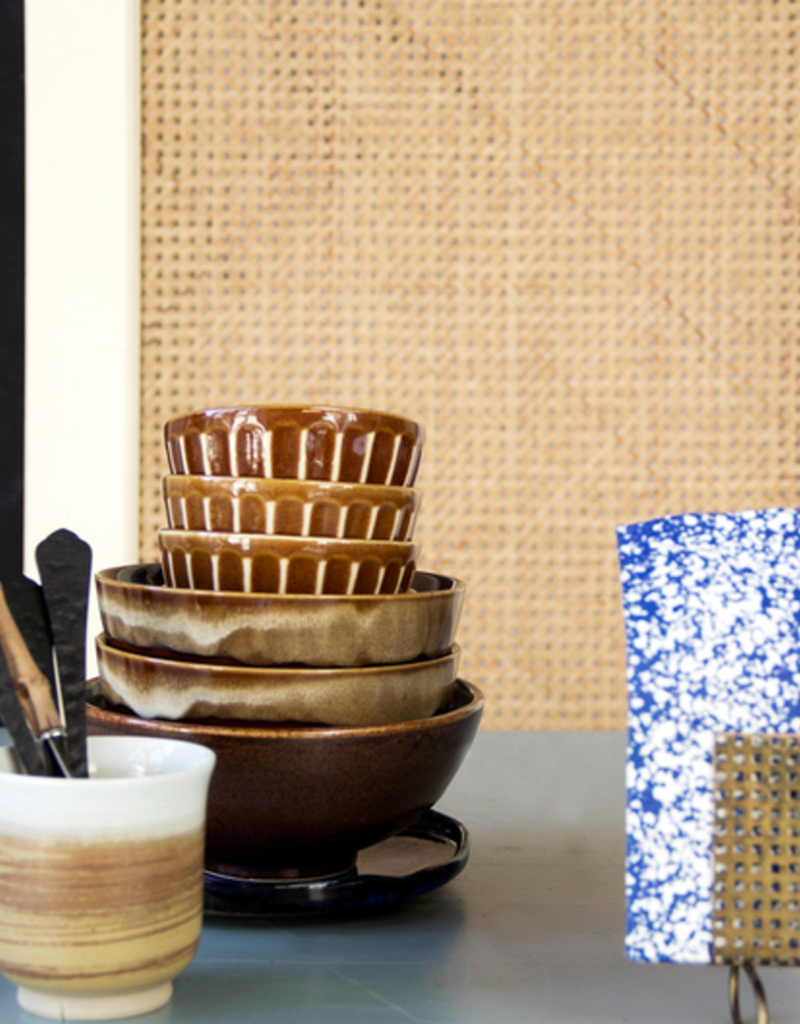 HK Living Kyoto ceramics striped bowl