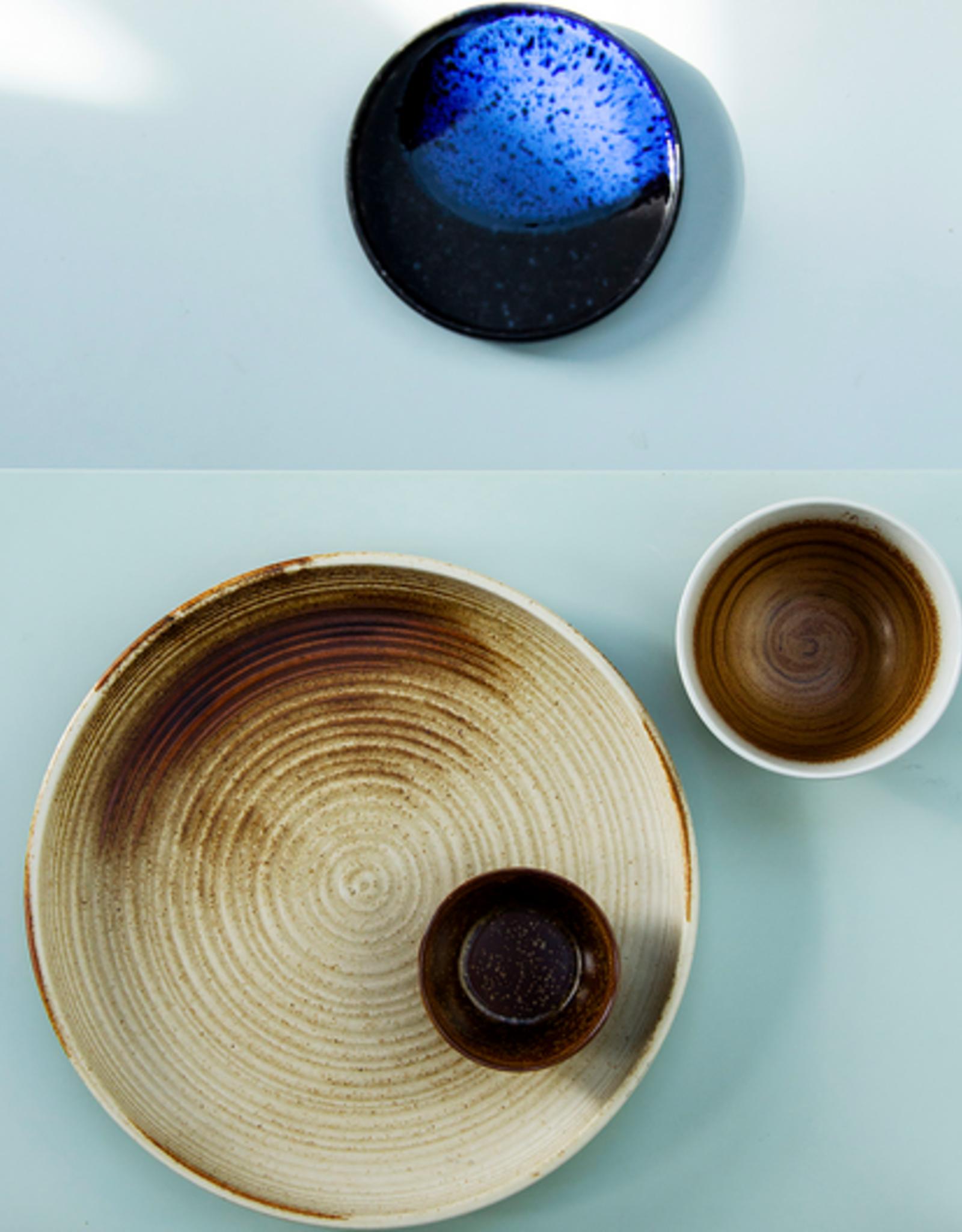 HK Living Kyoto ceramics rustic dinner plate