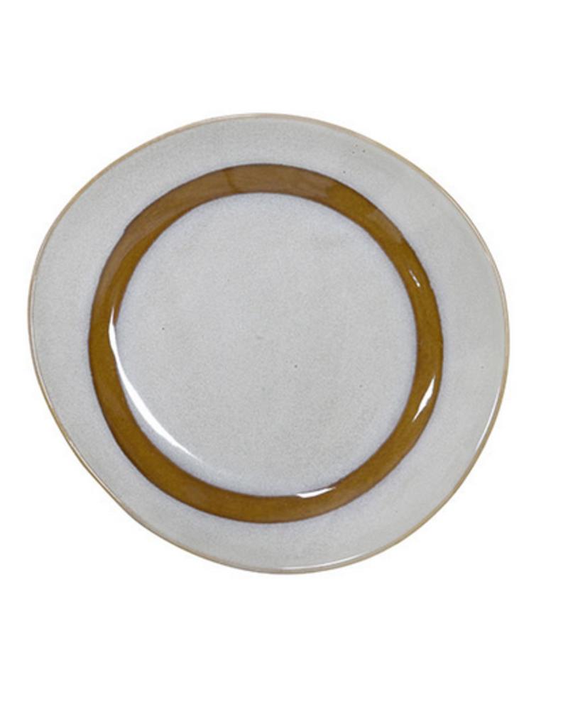 HK Living Ceramic 70's side plate snow