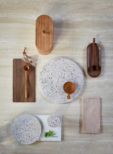 HK Living Oval tray walnut