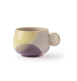 Gallery ceramics coffee cup yellow/lilac