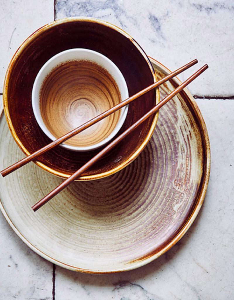HK Living Kyoto Ceramics Bowl brown/white
