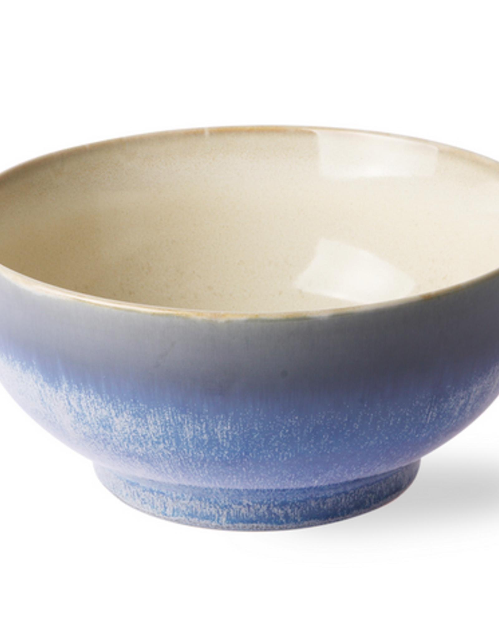 HK Living Ceramic 70's salade bowl L ocean