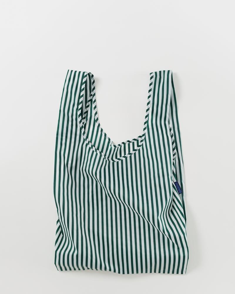 Baggu Reausable bag Stripe green