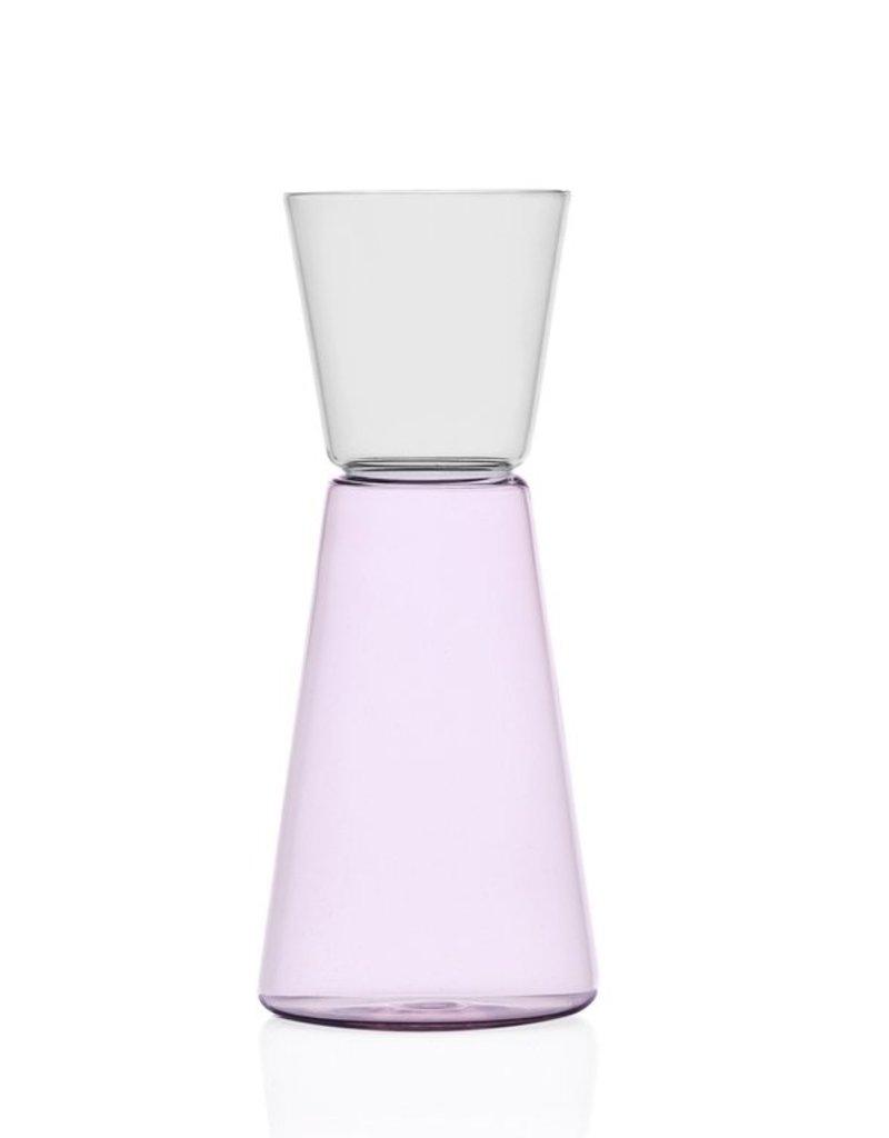Ichendorf High Rise Pitcher Pink / Clear