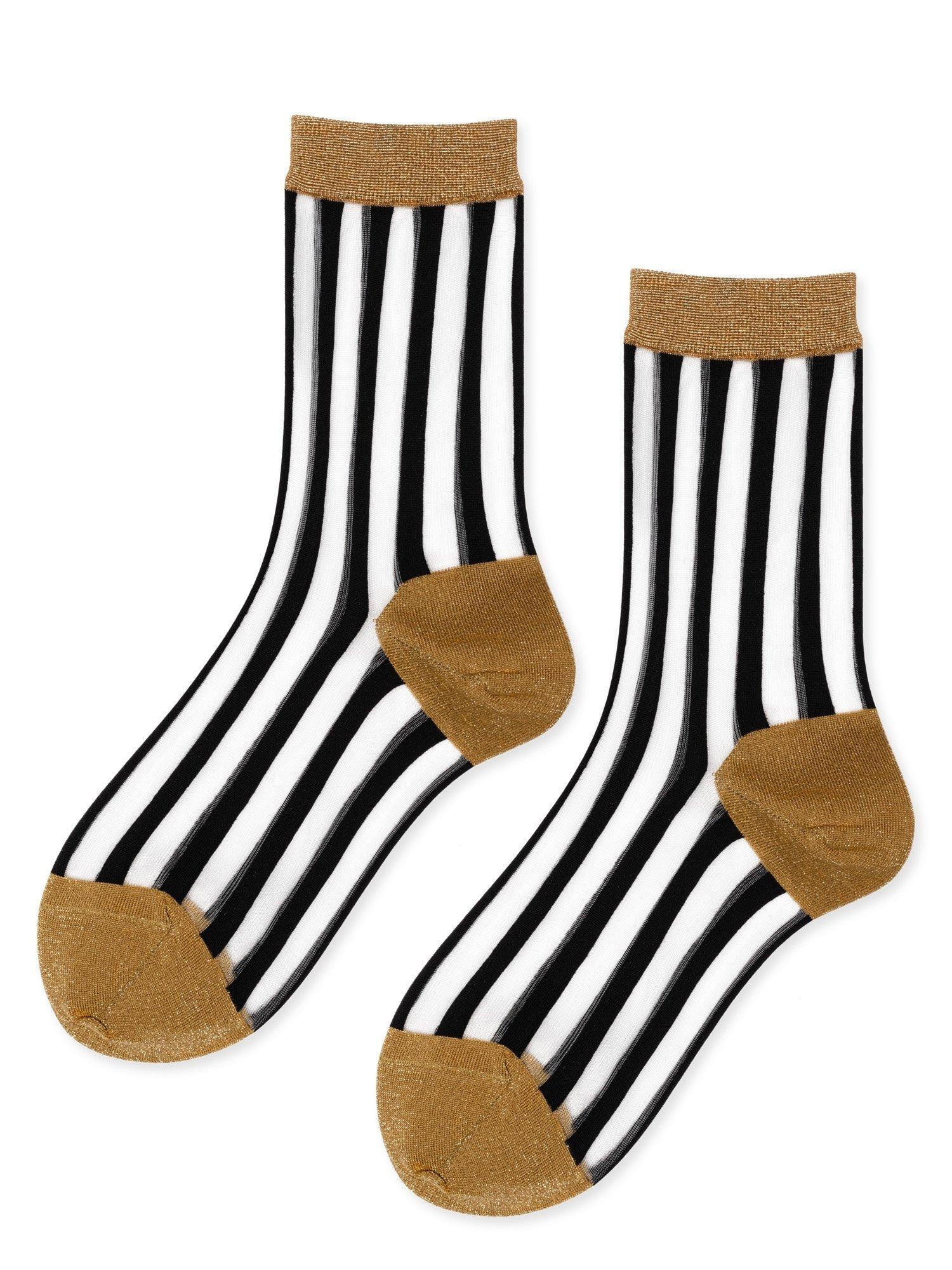 hansel from basel Socks Nylon Stripe gold