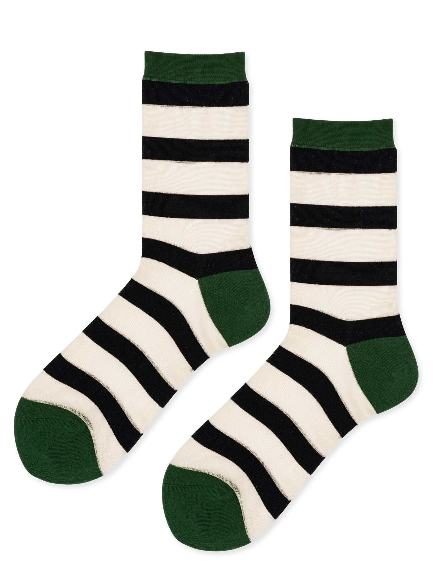 hansel from basel Socks Nylon stripe green