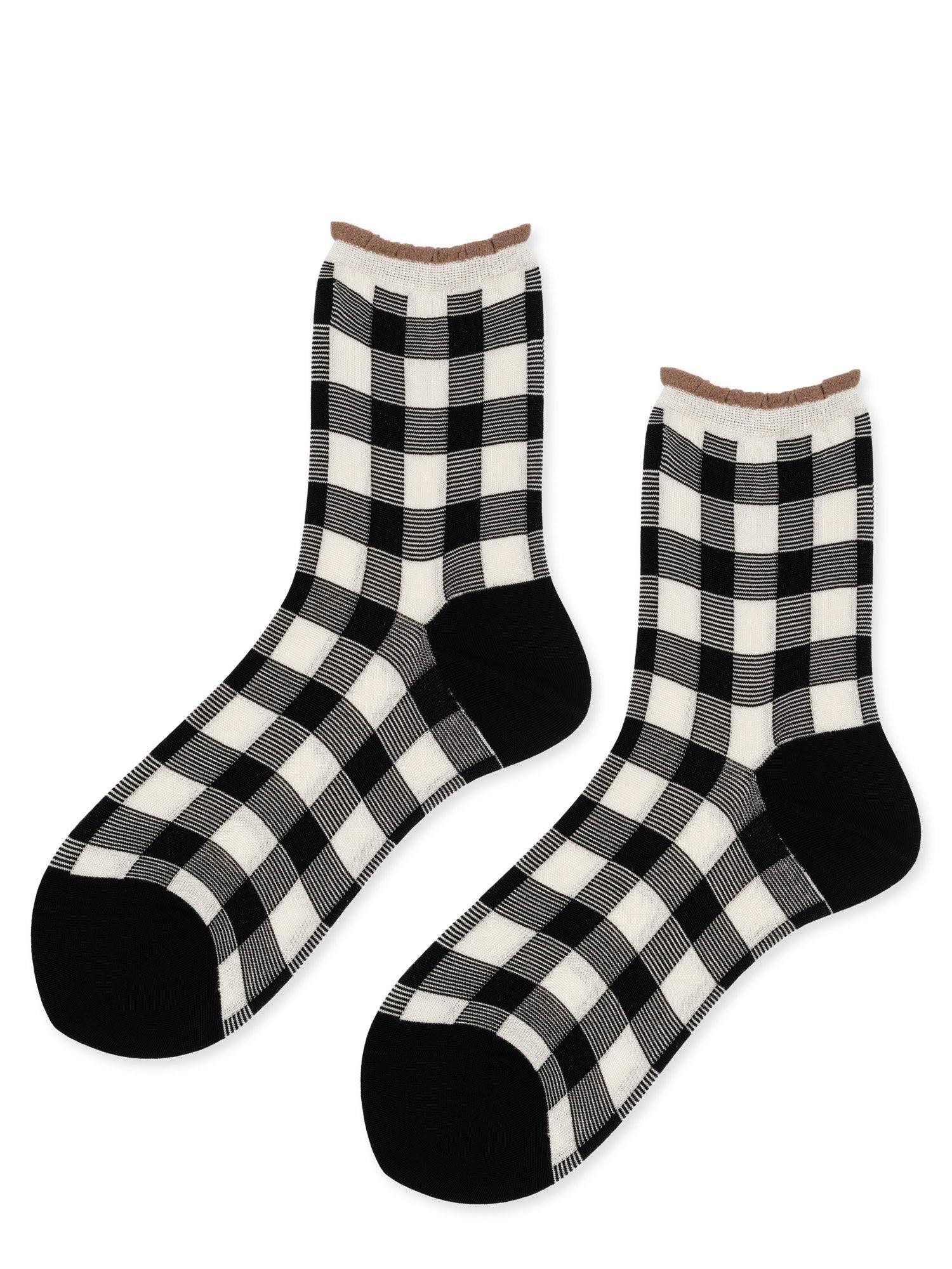 hansel from basel Socks Cotton check black