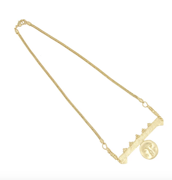 Cleopatra's Bling Cleopatra's Bling Moon Face charm necklace Gold