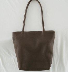 Baggu Medium Leather Tote Chocolate