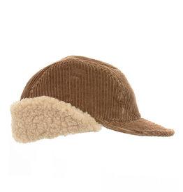 Cableami Corduroy cap Brown