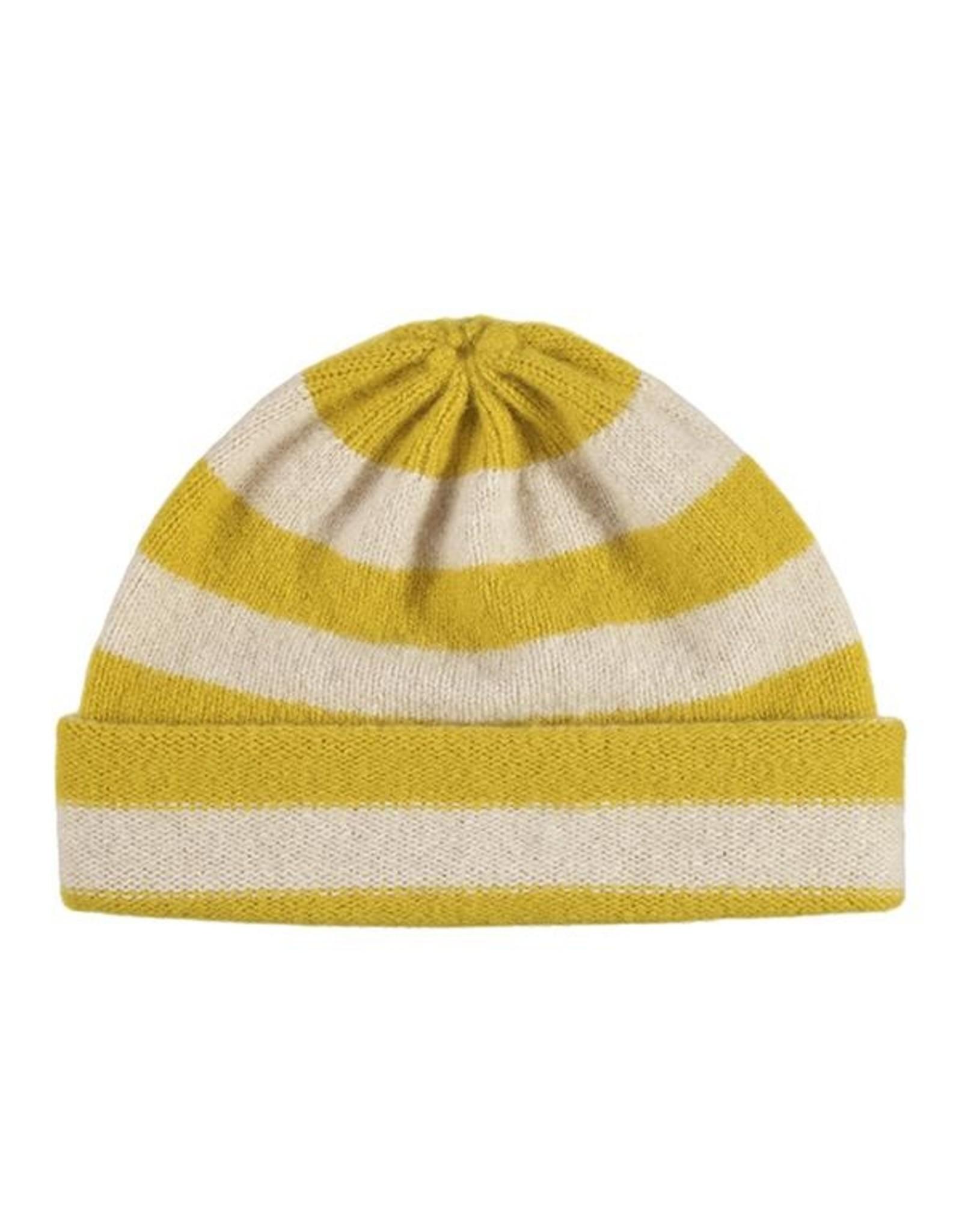 Jo Gordon Hat Stripe Tumeric / Oatmeal