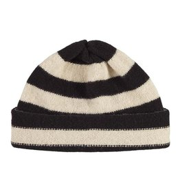 Jo Gordon Hat Stripe Black / Oatmeal