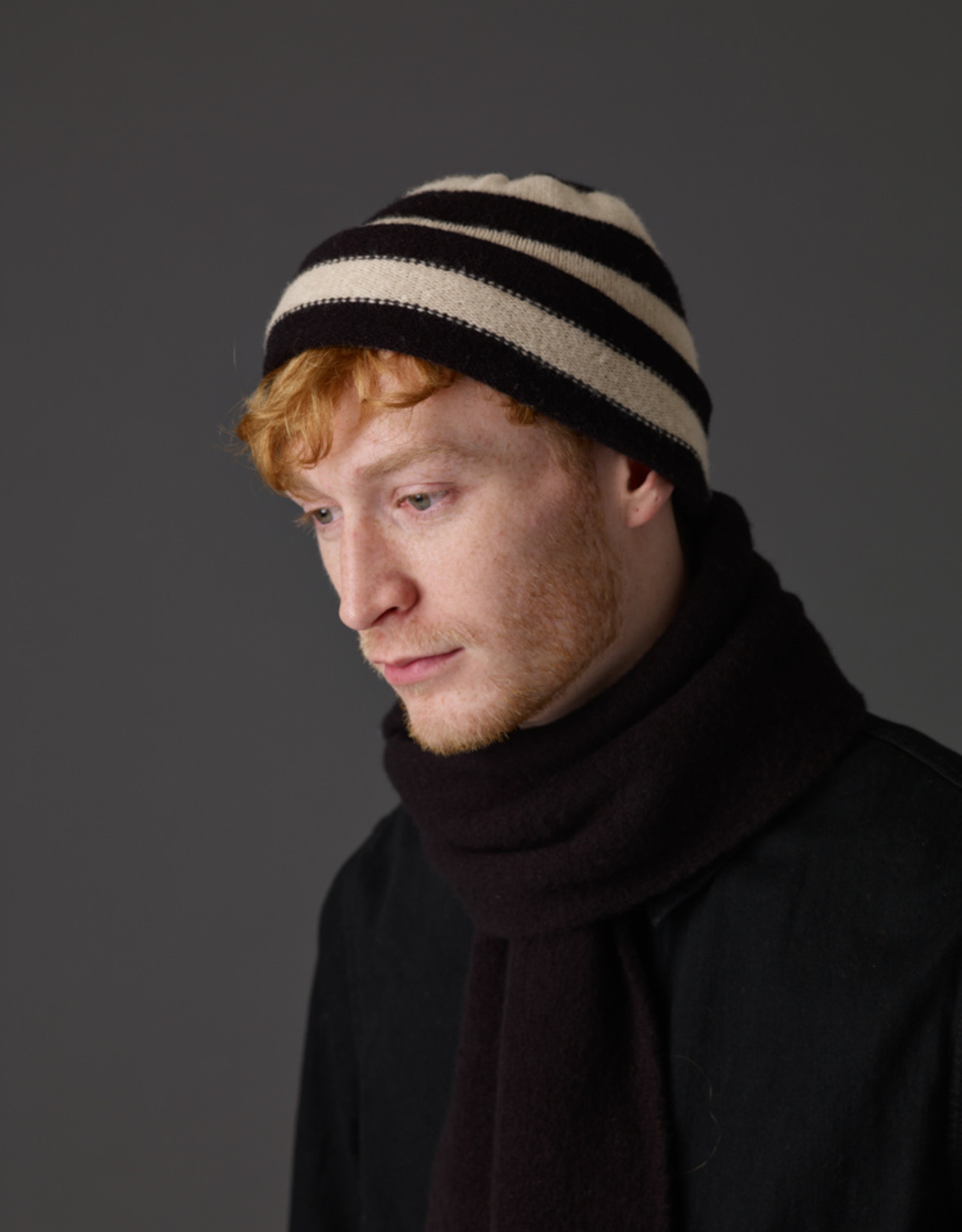 Jo Gordon Hat Stripe Black / Oatmeal