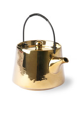 HK Living Bold & basic ceramics tea pot gold