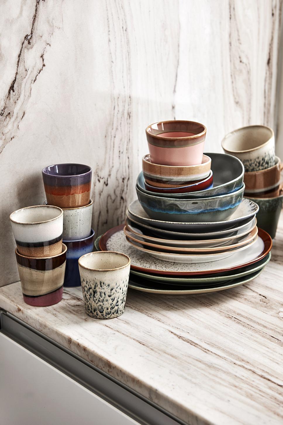 HK Living Ceramic 70's bowl medium tornado
