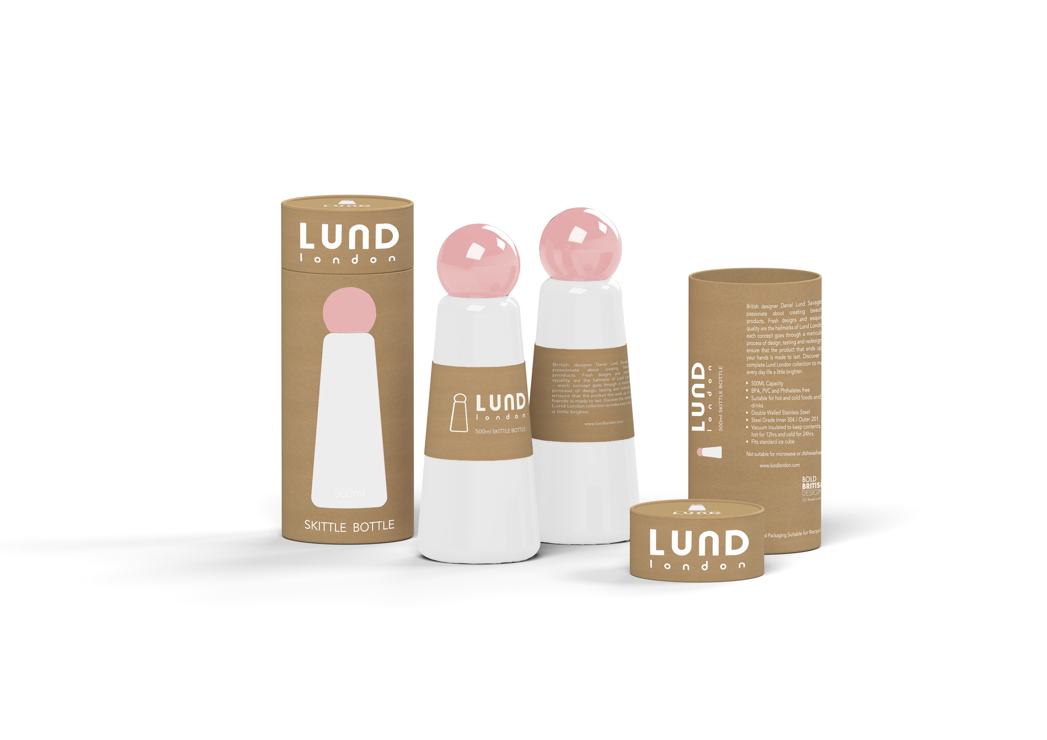 LUND Reusable Bottle White