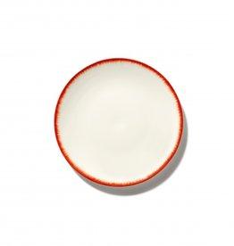 Ann demeulemeester Ann Demeulemeester for serax Plate D17,50 White-Red 2