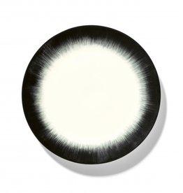 Ann demeulemeester Ann Demeulemeesterfor serax plate D24 white-black 4