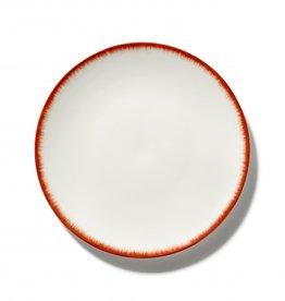 Ann demeulemeester Ann Demeulemeester for serax Plate D24 White-red 2