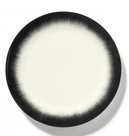 Ann demeulemeester Ann Demeulemeesterfor serax Plate D28 white-black 4