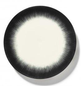 Ann demeulemeester Ann Demeulemeester for serax Plate D28 white-black 5