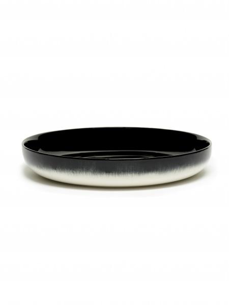 Ann demeulemeester Ann Demeulemeester for serax High plate D24 white-black B