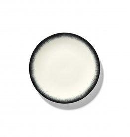 Ann demeulemeester Ann Demeulemeesterfor serax plate D17,5 white-black 3