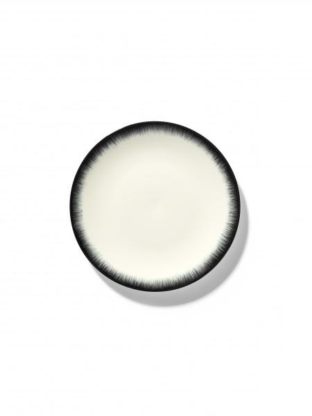 Ann demeulemeester Ann Demeulemeester for serax plate D17,5 white-black 3