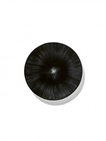 Ann demeulemeester Ann Demeulemeester for serax Plate D17,5 white black 6