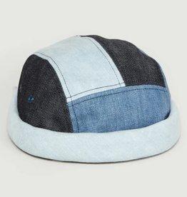 béton x ciré 5 Panels Patchwork Denim Hat