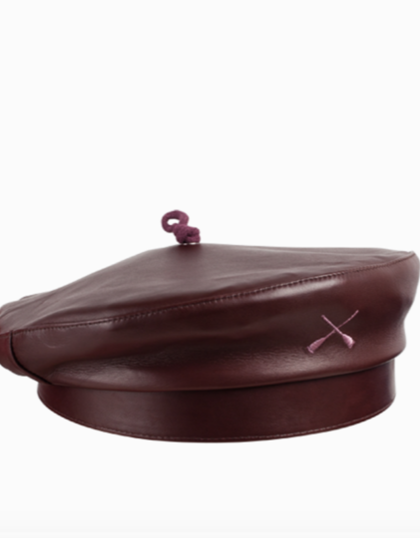 béton x ciré Beret Leather Bordeaux