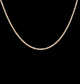 Anna + Nina Anna + nina Necklace Twisted Plain Necklace Yellow