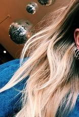 Anna + Nina Anna+Nina Single plain earring medium gold