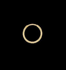 Anna + Nina Anna+Nina Single plain ring earring large gold
