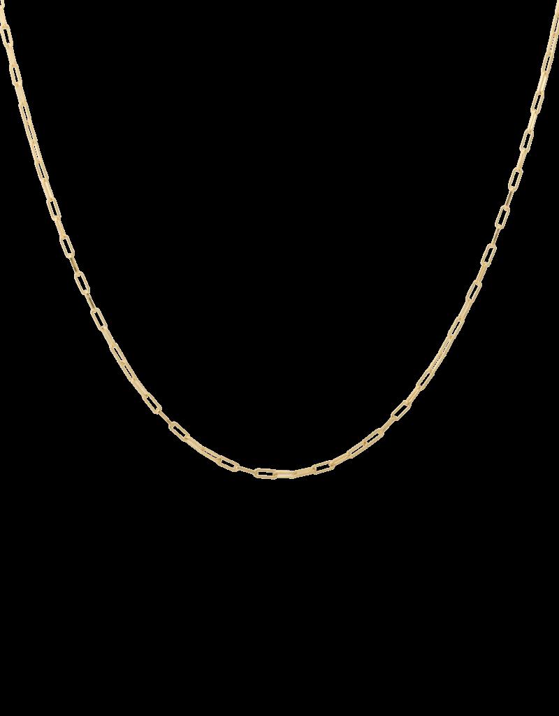 Anna + Nina Anna+Nina Lifeline plain long necklace gold