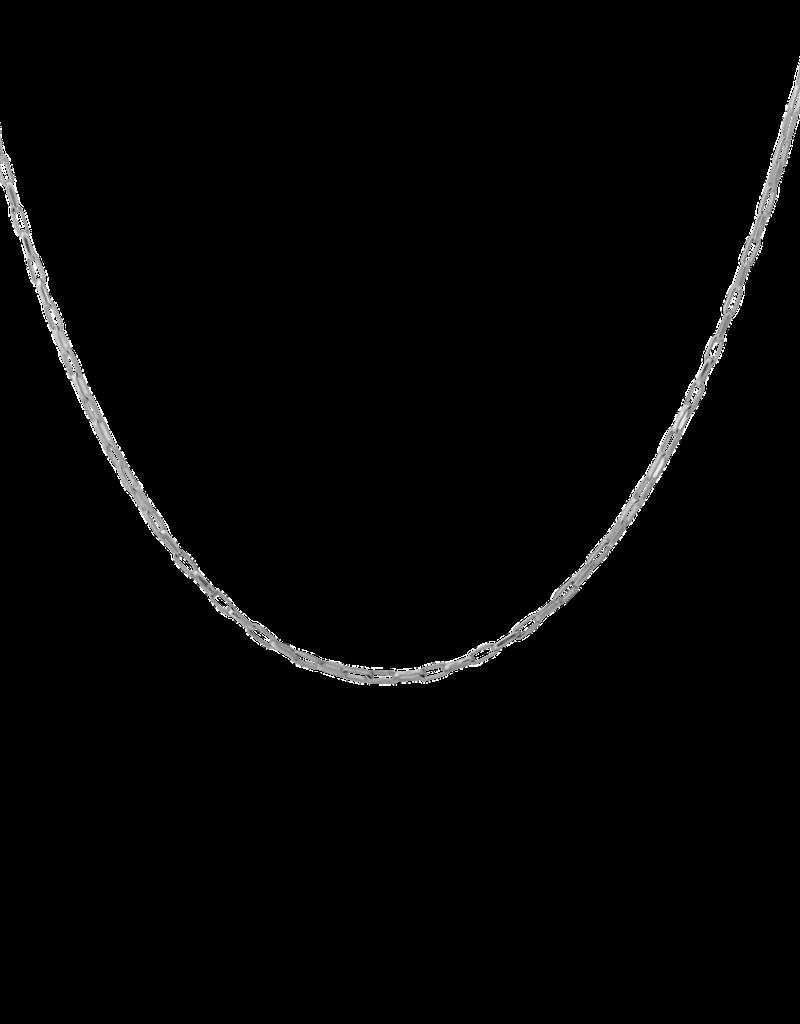 Anna + Nina Anna+Nina Lifeline plain long necklace silver