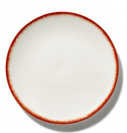 Ann demeulemeester Ann Demeulemeester for serax Plate D28 white-red 2