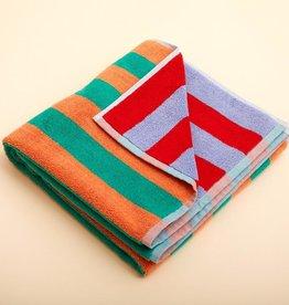 Dusen dusen Dusen Dusen Bath towel warm stripe
