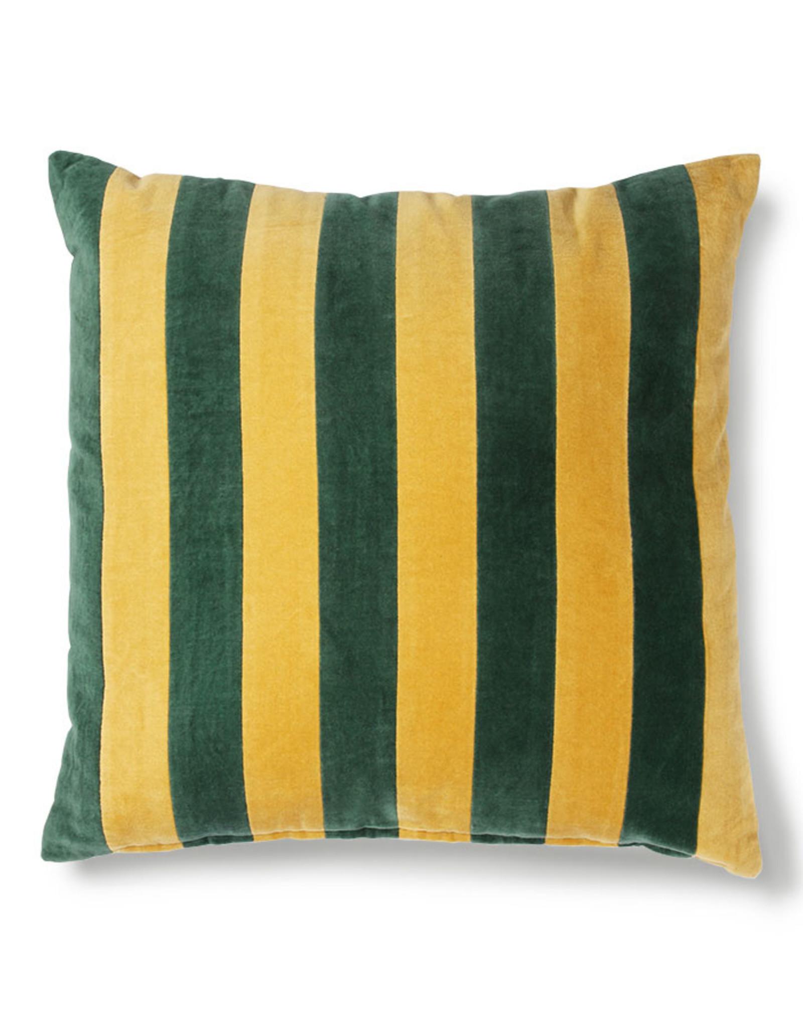 HK Living Cushion Velvet Green / Mustard