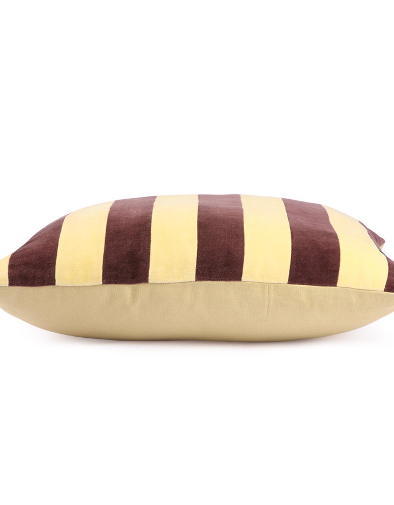HK Living Cushion Velvet Yellow / Purple