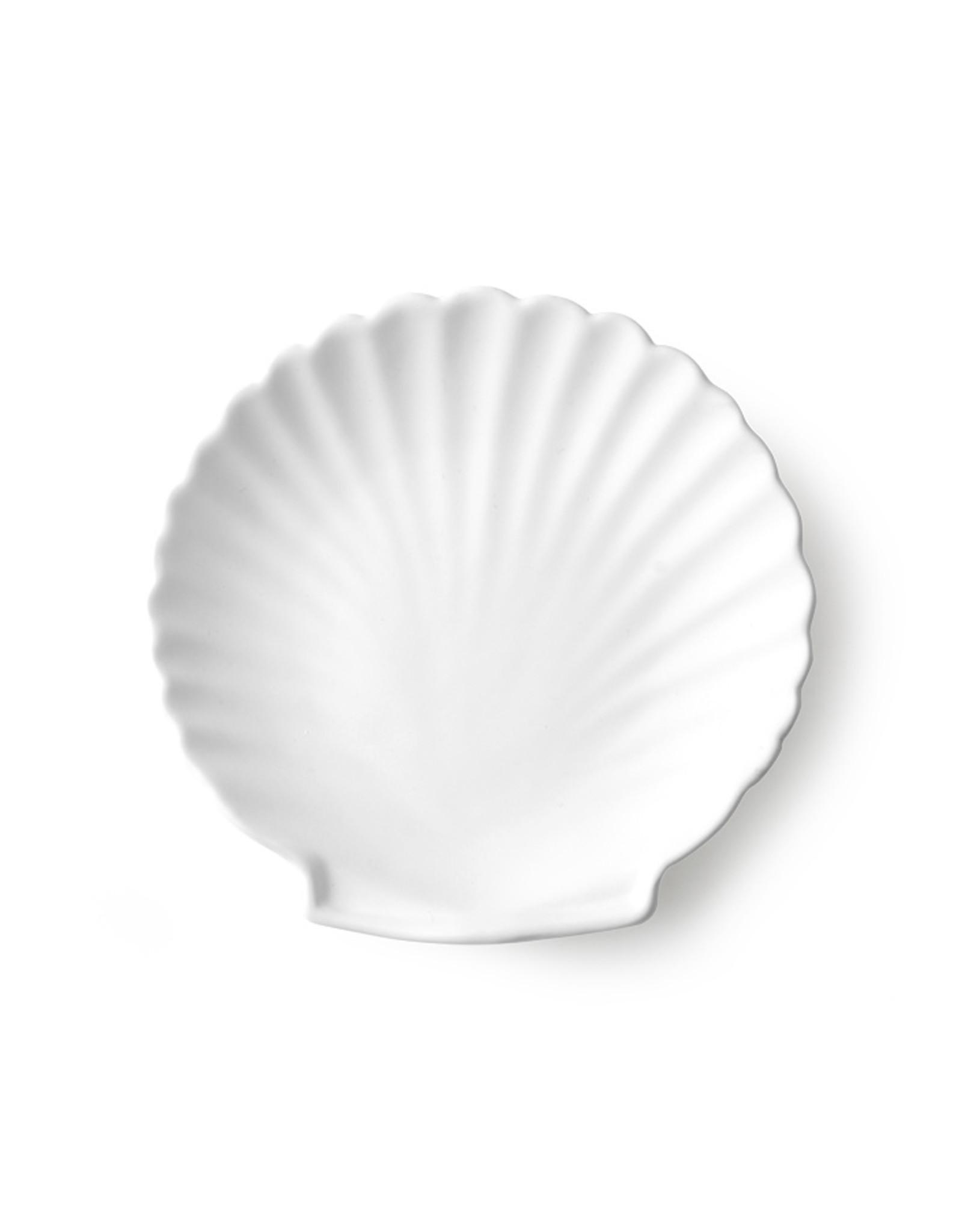 HK Living Athena Ceramics Shell Tray White Matt M
